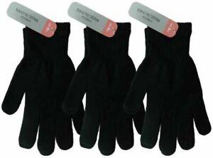 1-3 Pairs Mens Womens Black Magic Warm Stretch Winter Thermal Gloves UK