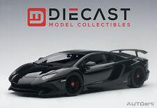AUTOART 74556 LAMBORGHINI AVENTADOR LP750-4 SV GLOSS BLACK 1:18TH SCALE