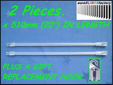2Pcs.x 510mm. VENETIAN BLIND CONTROL ROD - WAND (Hook on Style) NEW +a GIFT
