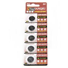 5PCS 160mAh CR1620 ECR1620 DL1620 3V Alkaline Button Cell Coin Battery Batteries