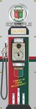 OLIVER FARM TRACTOR OLD TOKHEIM GAS PUMP BANNER DISPLAY SIGN MURAL ART 2' X 6'