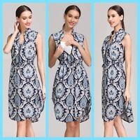 NEW NAVY PRINT MATERNITY BREASTFEEDING NURSING DRESS SIZE 10 12 14 16