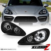 [TURBO STYLE CONVERSION] 2011-2014 Porsche Cayenne Base S Hybrid Headlights PAIR
