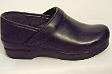 Women Dansko Black Clogs Mules Shoes Slip On 37 US 6.5-7