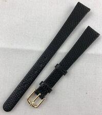 Kreisler Genuine Lizard 13mm Long Black Ladies Non-Stitched Watch Band W64