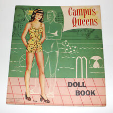 Campus Queens vintage paper doll book Abbott Publishing