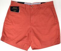 "NEW $79 Polo Ralph Lauren Classic Fit 6"" Chino Shorts Mens Red Stretch NWT"