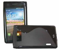TPU Style Case Wave für LG P700 Optimus L7 in schwarz Rubber Silikon Skin black