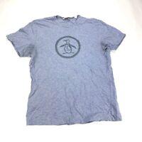 Original Penguin T-Shirt By Munsingwear Men's Size Medium Blue S/S Graphic -Nice