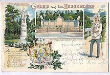 L 5 - Litho, Gruss aus dem Hessenland, Kassel, C. Heller, 1899 gl., Marke gelöst