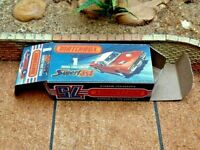MATCHBOX SUPERFAST NO.1D DODGE CHALLENGER CUSTOMISED DISPLAY/STORAGE BOX ONLY