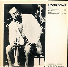 "Lester Bowie Rios Negroes / The Great Pretender ECM Records PRO A 1020 12"" Promo"