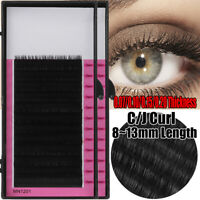 C J Curl False Eyelashes Faux Mink Hair Eye Lash Extension Individual Lashes