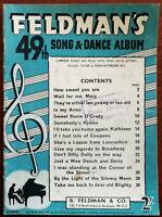 Feldman's 49th Song & Dance Album, Words & Music with Sol-Fa Setting