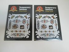TAZMANIAN DEVIL TRIBAL STYLE TEMPORARY TATTOOS - LOT OF 2 PACKS - LOONEY TUNES