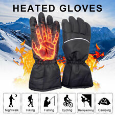 Touch screen Electric Thermal Warm Heated Gloves Motorcycle Bike Hunting Winter