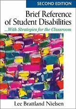 Brief Reference of Student Disabilities: ...With Strategies for the Classroom, N