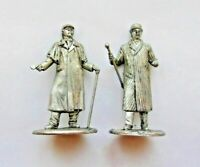 1/32 Lot Sherlock Holmes and Dr. Watson British detective Tin Metal Figure 54mm