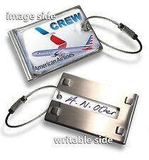 American Airlines B777-CREW  LUGGAGE TAG (METAL)