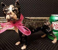 Stoic Antique SKOOG Boston Bull Terrier Dog WWI HERO 'STUBBY' Cast Iron Doorstop