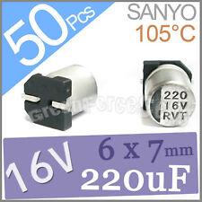 50 x 16V 220UF 6x7mm Standard SMD Super Low ESR Aluminum Solid Capacitor