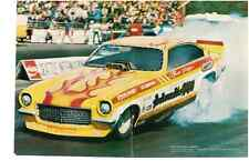 1973 VEGA FUNNY CAR - JENNER & HODGSON  ~  ORGINAL 2-PAGE MAGAZINE PHOTO / AD