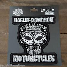 Harley Davidson Authentic Patch - Cognition Skull - Medium Emblem Badge