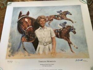 Horse Racings Secretariat Penny Chenery signed Salina Ramsay Ron Turcotte Ltd Ed