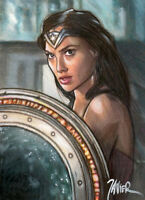WONDER WOMAN Gal GADOT Justice League LIMITED Ed. SKETCH Card PRINT 1 of 15 ART