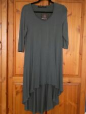 join clothes med tunic dip back Indian teal