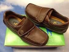 Jumping Jacks Clipper Brown Leather Hook & Loop Oxford Size 38 / US Youth Size 6