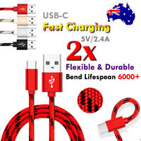 2X 1M 2M Type C USB Charger Charging Cable Cord For Apple iPad Pro 11 12.9 2018