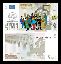 Tintin 'main characters' euro banknotes 7pcs - STRICT Limited Edition 500pcs