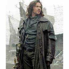 Men's Steampunk Gothic Leather Trench Coat Jacket Hugh Jackman Van Helsing Coat