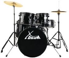 Kit Batteria Percussione Principianti Drum Set Supporte Pedale Piatti Sgabello