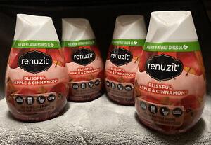Renuzit Gel Air Freshener, Blissful Apple and Cinnamon 7 oz (Pack of 4)