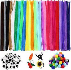 25 Colors Chenille Stems Pom Pipe Cleaners Craft for for Kids Art Crafts 700PCS