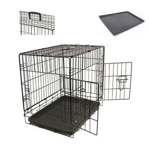 "Dog Pet Training Transport crate Fold Flat cage Removable Tray Medium 30"" UKES"