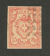 Schweiz Switzerland Rayon III forgery