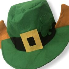 Leprechaun Hat w/Ears Green Felt Party Accessory 1 Hat