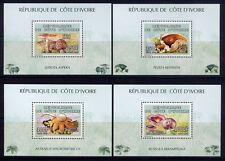 Côte d'Ivoire Ivory Coast 2005 champignons Funghi Champignons bloc 79-82 Neuf sans charnière