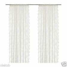 """IKEA ALVINE SPETS Pair of Lace Curtains Off - White 2 Panels 57 """" x 98 """""""