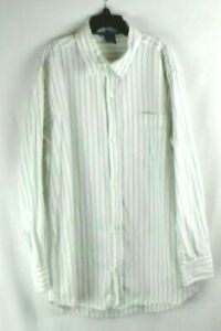 Gap Green & White Long Sleeve Cotton Button Up Shirt Boy's/ Kid's Size XL 12 EUC