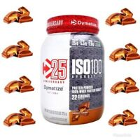 Dymatize ISO-100 Hydrolyzed Whey Isolate 1.6 Lb NEW Flavor Chocolate Caramel !!!