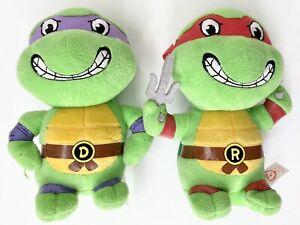 Raphael & Donatello Teenage Mutant Ninja Turtles TMNT 15cm TY plush 2017