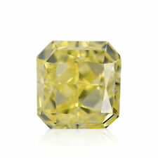 0.49 Carat Fancy Yellow Loose Diamond Natural Color Cushion Cut IGI Certified