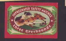Ancienne étiquette Allumettes Italie BN21836 course de chiens Lapin