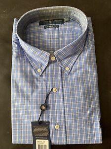NEW Polo Ralph Lauren Men's checked Classic Fit Dress Shirt  17.5-32/33
