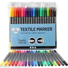 20 Textilmalstifte Textilmarker Stoffmalstifte Marker Filzer farblich sortiert