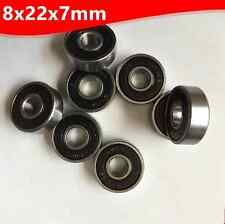 8Pcs 8x22x7mm Rubber Stell Sealed Ball Miniature Bearings 608-2RS New
